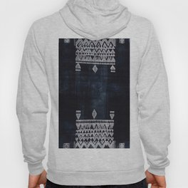 Arteresting V48 - Indigo Anthropologie Bohemien Traditional Moroccan Design Hoody