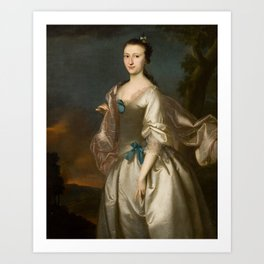 Elizabeth Browne Rogers , Joseph Blackburn, c.1730 - c.1778 Art Print