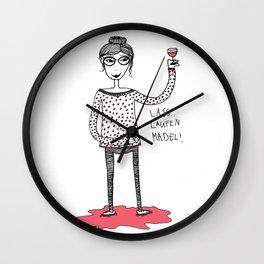 Let it flow girl Wall Clock