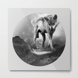 Galactic Wolf Metal Print