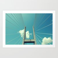 bridge Art Prints featuring Bridge by Ubik Designs