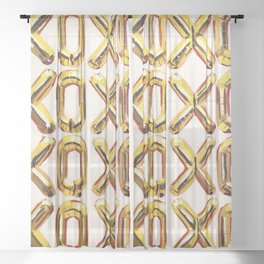 I Love You Like X O Sheer Curtain