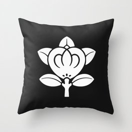 Tachibana Clan · White Mon Throw Pillow