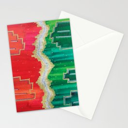 Mending the Rift - Red, Green & Gold Stationery Cards