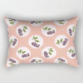 Cute aronia berries polka dot illustration Rectangular Pillow
