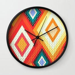 Decorative rhombs Wall Clock