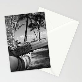 Kuau Palm Trees Hawaiian Outrigger Canoe Paia Maui Hawaii Stationery Cards