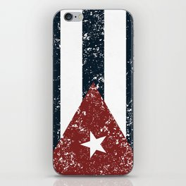Old scratched Cuban flag iPhone Skin