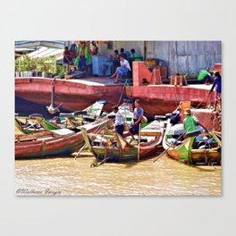Yangon Harbour Canvas Print