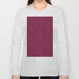 Abstract Polygon Pantone Vivacious 19-2045 Geometrical Low Poly Triangle Pattern 1 Long Sleeve T-shirt