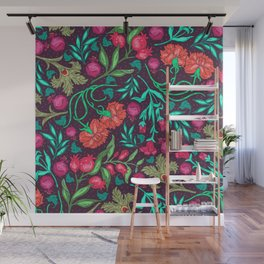 Asian-Inspired Happy Joy Colorful Floral Pattern Wall Mural