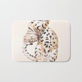 Cute Stretching Bengal Kitten Bath Mat