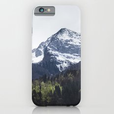 Winter and Spring - green trees and snowy mountains Slim Case iPhone 6s