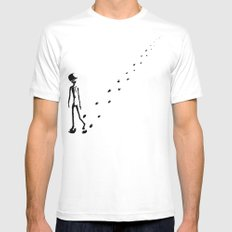 Alone Mens Fitted Tee White MEDIUM