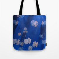 jellyfish Tote Bags featuring jellyfish by shennyche