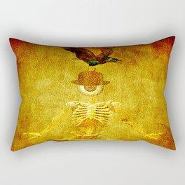 Monsieur Bone and Archibald the crow Rectangular Pillow