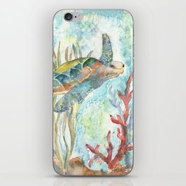 Underwater Fantasy Sea Turtle iPhone Skin