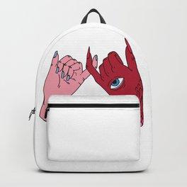 pinky swear friendship devil satan human friends Backpack
