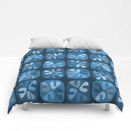 blue boomerangs Comforters