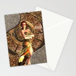 Steampunk, beautiful steam women Stationery Cards