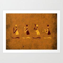 Forms of Prayer - Yellow Art Print