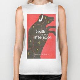 Death in the Afternoon, Erenst Hemingway, book cover, classic novel, bullfighting stories, Spain Biker Tank