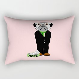 Pug Nope Rectangular Pillow
