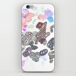170323 Magical Unfolding 12  |Modern Watercolor Art | Abstract Watercolors iPhone Skin