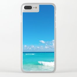 Parasailing in Cancun Clear iPhone Case