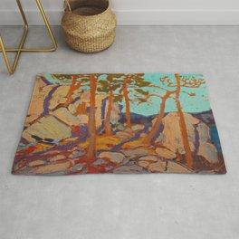 Tom Thomson Pine Cleft Rocks Canadian Landscape Artist Rug