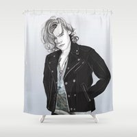 coconutwishes Shower Curtains featuring Biker Styles by Coconut Wishes
