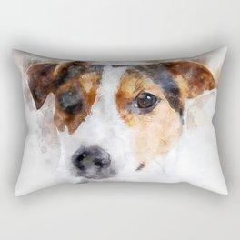 Jack Russell Watercolor Art Rectangular Pillow