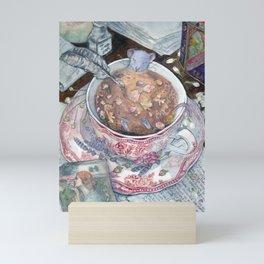 Relaxing cup of tea Mini Art Print