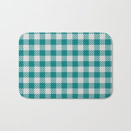 Teal Buffalo Plaid Bath Mat