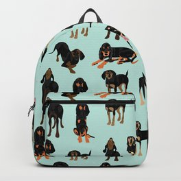 Black and Tan Coonhound Pattern Backpack
