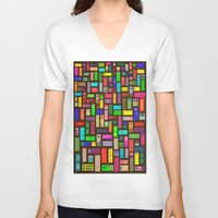 doors V-neck T-shirts featuring Doors - Black by Finlay McNevin