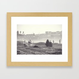 Christmas in California Framed Art Print