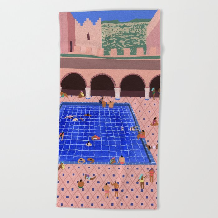 Cool Beach Towel By Helobirdie Society6