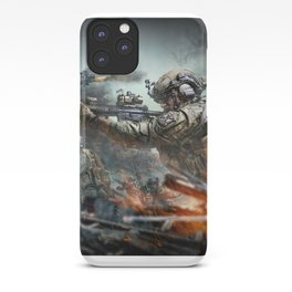 US Marines Devil-Dogs are marching on iPhone Case