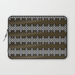 Endless Knot pattern - Gold & white Laptop Sleeve