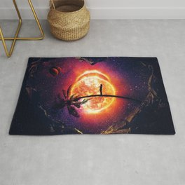 heart of the universe Rug