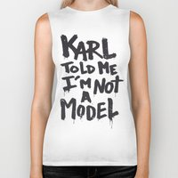 karl Biker Tanks featuring Karl told me... by Ludovic Jacqz