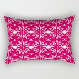 Red & White Pattern Rectangular Pillow
