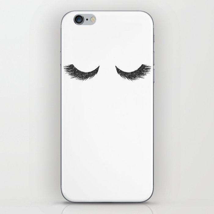 Lashes Black Glitter Mascara iPhone Skin