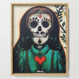 Love Always and Forever // Sugar Skull Day Dead Dia Muertos Creepy Cute Skeleton Serving Tray