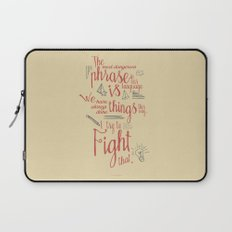 Grace Hopper sentence - I always try to Fight That - Color version, inspiration, motivation, quote Laptop Sleeve