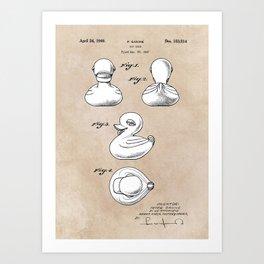 patent art Ganine 1947 toy duck Art Print