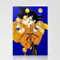 goku Stationery Cards featuring Goku by Ana del Valle Store