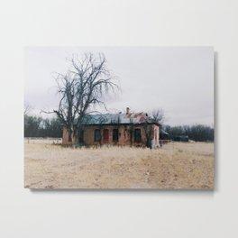 Abandoned Ranch House Metal Print