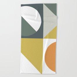 Mid Century Geometric 01 Beach Towel